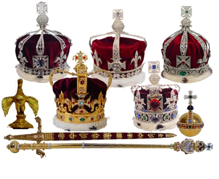 Драгоценные короны Великобритании.